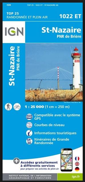Carte IGN St Nazaire - PNR de Brière