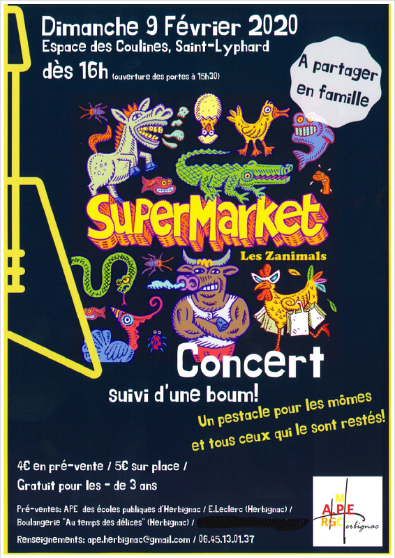 Concert Boum SUPERMARKET Herbignac