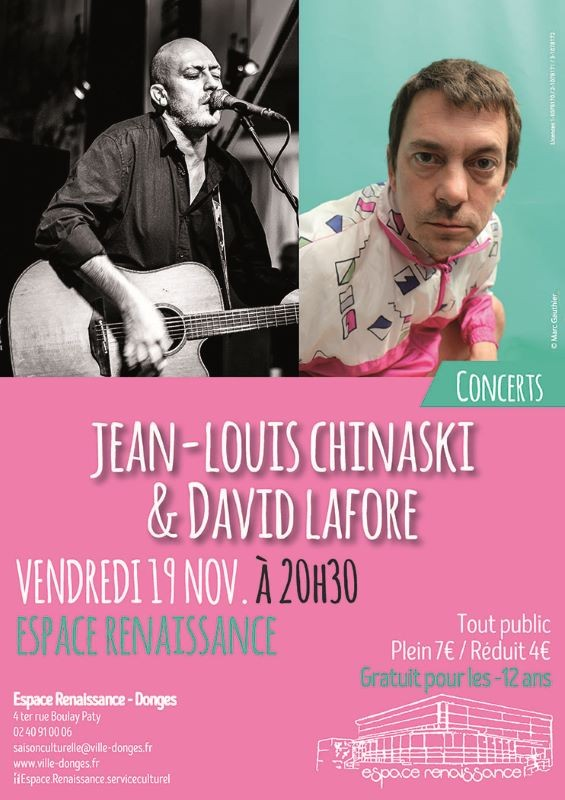 Concerts Chinaski & Lafore - Donges