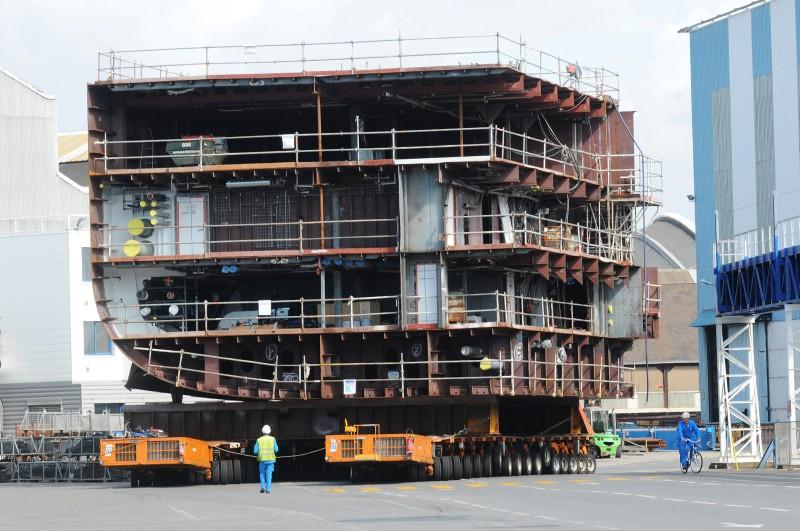 Des blocs grands comme des immeubles seront assemblés pour former le paquebot