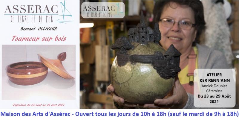 Exposition Atelier Ker Renn'Ann et Bernard Ollivaud Maison des Arts Assérac