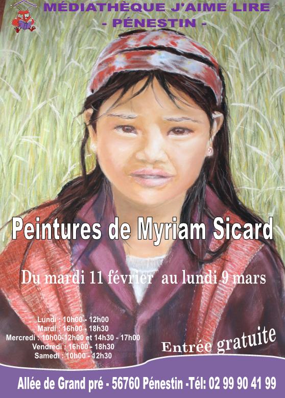 Exposition peinture Mme SICARD