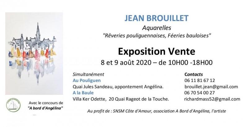 Exposition Vente  Aquarelles Jean Brouillet