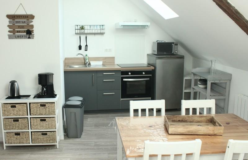Guérande - Appartement Tour de la Gaudinais 5 personnes - Espace cuisine