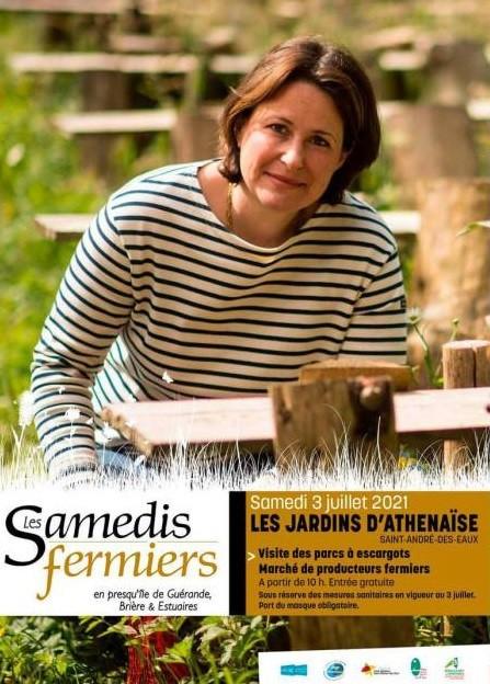 Les samedis fermiers : Les Jardins d'Athénaïse à Saint-André-des-Eaux