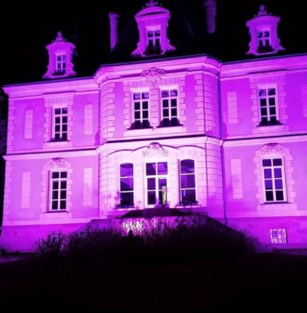 Mairie Le Pouliguen illumination dans le cadre d'Octobre Rose 2021