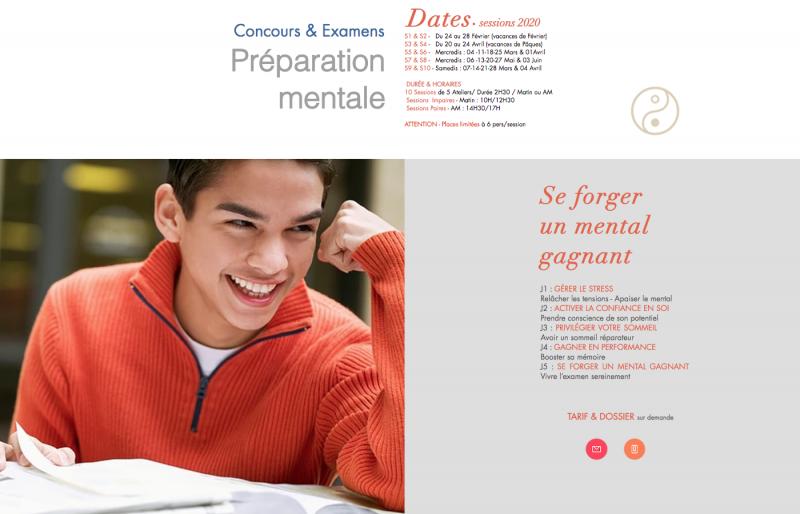 Stage de préparation mentale aux concours et examens