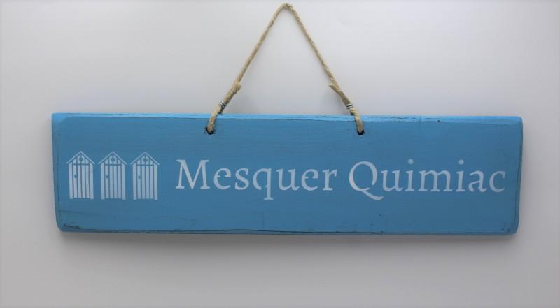 Pancarte cabines Mesquer-Quimiac - bleu clair