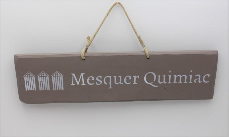Pancarte cabines Mesquer-Quimiac - taupe