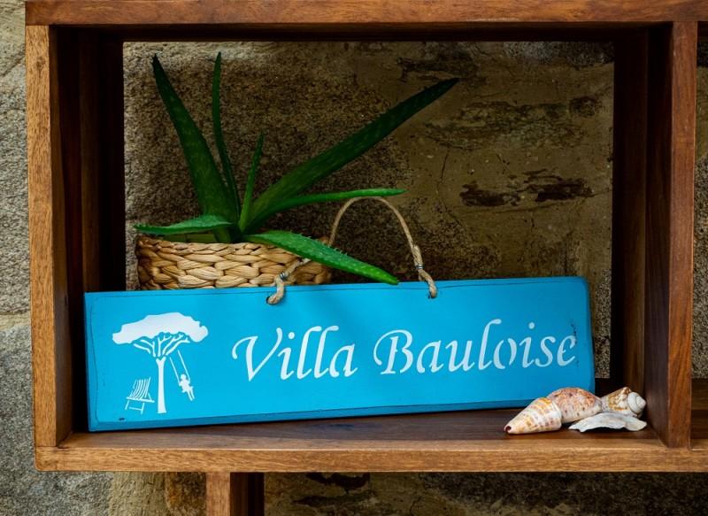 Pancarte Villa Bauloise - bleu turquoise
