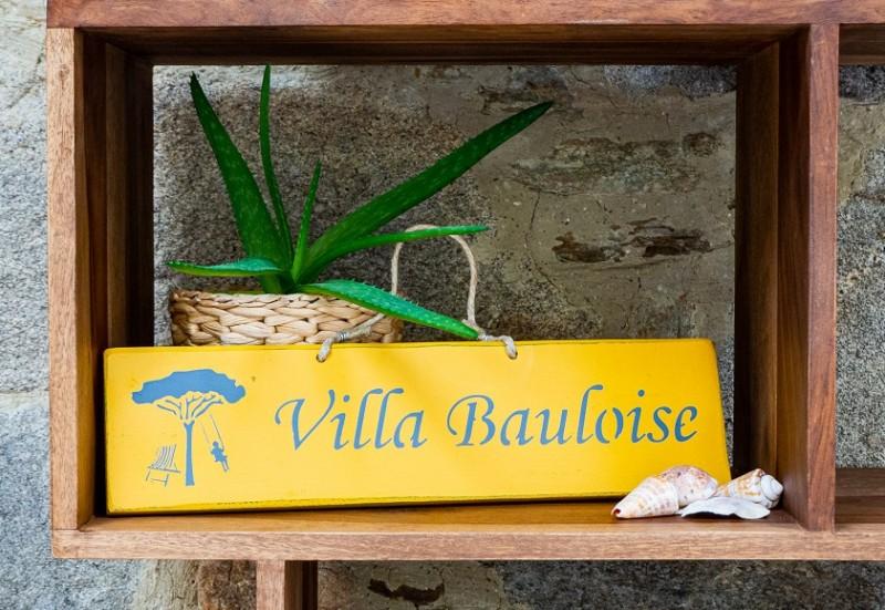Pancarte Villa Bauloise - jaune