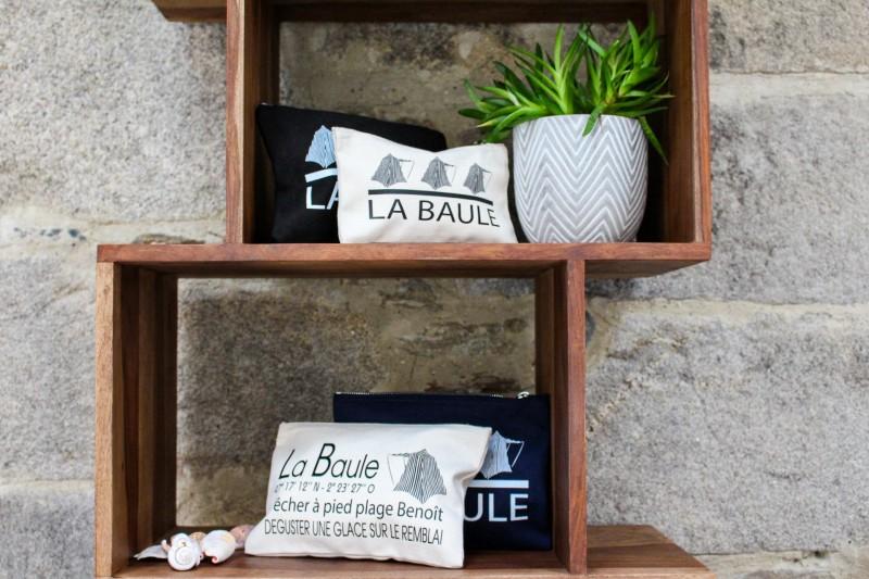 Pochette zippée en coton - La Baule