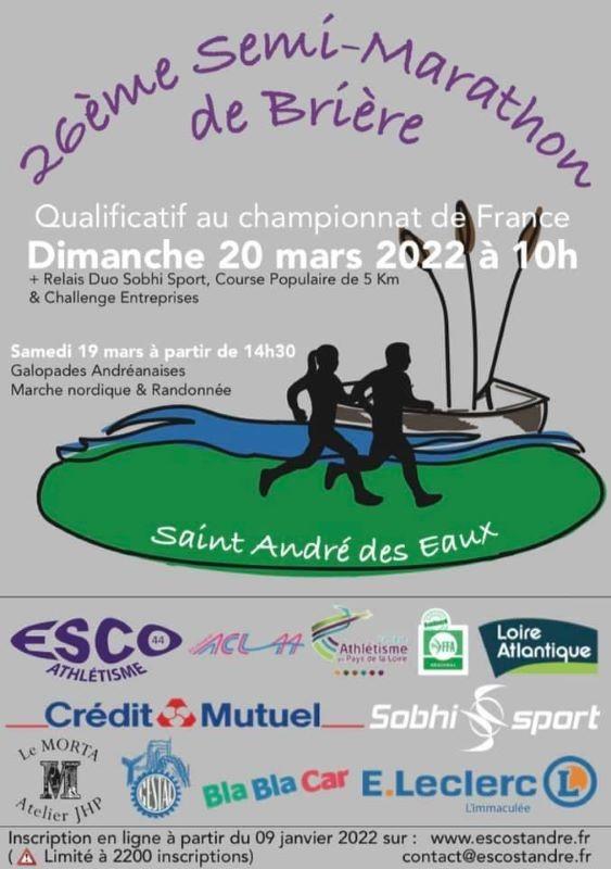 Semi-Marathon de Brière - St André des eaux