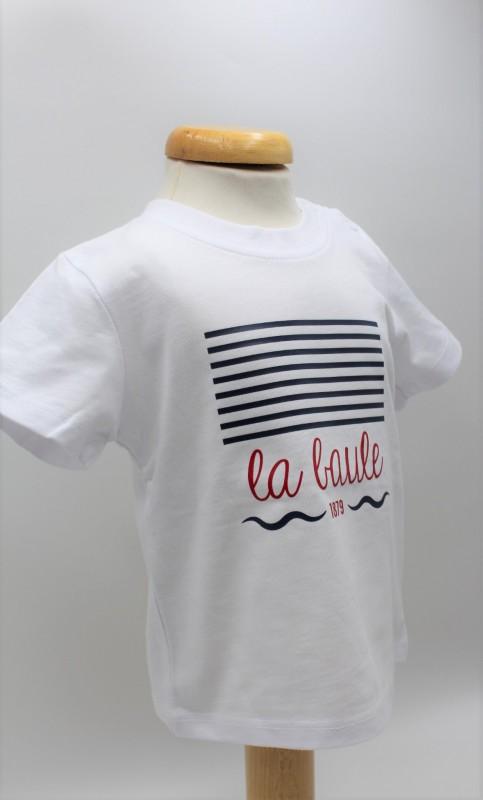 T-shirt Enfant Marinière blanc la baule