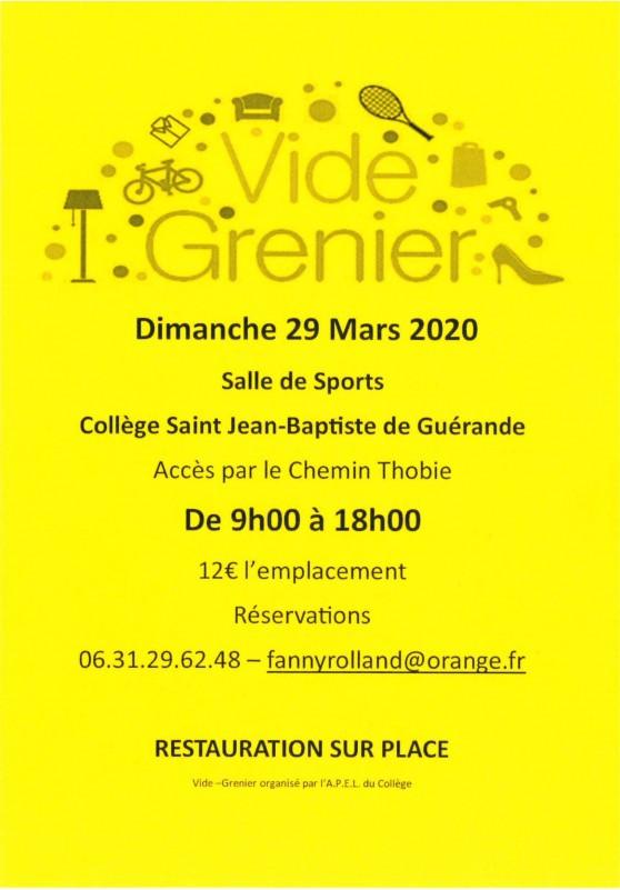 Vide-greniers par le collège Saint Jean-Baptiste