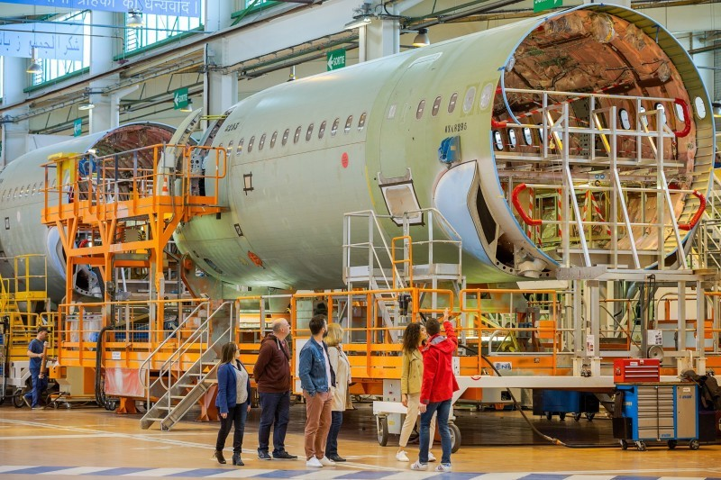 Visite guidée d'Airbus